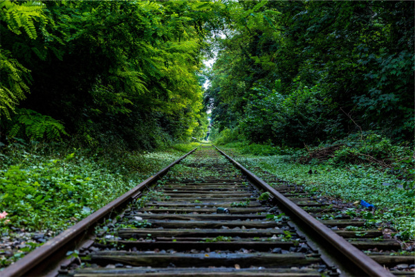 railroad tracks as metaphor for moving ahead